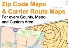 Carrier Route Maps By Zip Code | Zip Code MAP